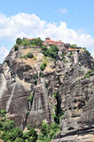 Ancient monastery in meteora, Greece Royalty Free Stock Images