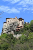 Ancient monastery in meteora Royalty Free Stock Images