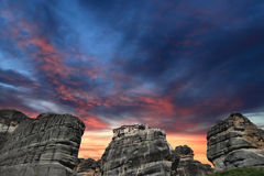 Ancient monastery in Meteora Royalty Free Stock Photos