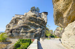 Ancient Monastery in Meteora, Greece Royalty Free Stock Image