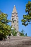 Ancient monastery San Barnardin, Portoroz, Slovenia Stock Images