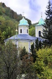Ancient monastery. Village Saharna. Dome of the church. Colors of the autumn royalty free stock images