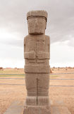 Ancient Monolith Ponce in Tiwanaku Stock Photography