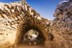 Ancient Monolithos temple ruins Royalty Free Stock Photo