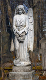 Ancient monument. Ancient Gravestone monument in the form of an angel Royalty Free Stock Images