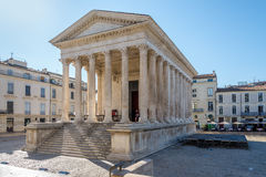 Ancient Monument Maison Carree of Nimes Stock Photo
