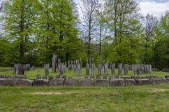 Ancient monument to the sun stone ruins at Sarmizegetusa Regia Royalty Free Stock Photos