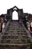 Ancient monument at Wat Chang Rop Stock Images
