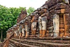 Ancient monument at Wat Chang Rop. Kamphaeng Phet, Thailand Royalty Free Stock Images