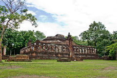 Ancient monument at Wat Chang Rop. Kamphaeng Phet, Thailand Stock Photos
