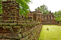 Ancient monument at Wat Chang Rop, Kamphaeng Phet Royalty Free Stock Photos