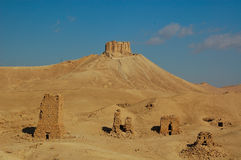 Ancient monuments located in the city of palimira in Syria Royalty Free Stock Photo