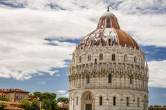 Ancient monuments in Pisa on green glade Royalty Free Stock Photography