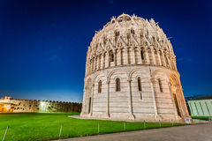 Ancient monuments in Pisa at night Royalty Free Stock Photography