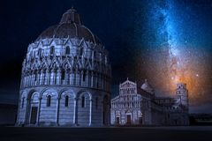 Ancient monuments in Pisa at summer. Europe Stock Images