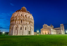 Ancient monuments in Pisa at sunset Royalty Free Stock Photos