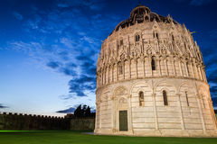Ancient monuments in Pisa at sunset Royalty Free Stock Image