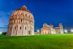 Ancient monuments in Pisa at sunset Royalty Free Stock Photo