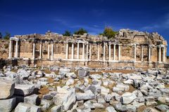 Ancient monuments in Side, Turkey Royalty Free Stock Image