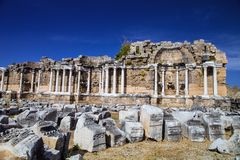 Ancient monuments in Side, Turkey Royalty Free Stock Photos