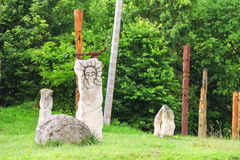 Ancient monuments. Urych, Lviv region, Ukraine Stock Photo