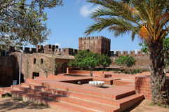 Ancient moorish castle in Silves Stock Image