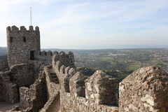 Ancient Moorish Castle in Sintra Royalty Free Stock Photography