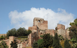 Ancient moorish fortress in Malaga Stock Photo