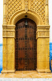 Ancient Moroccan art craftsmanship - entrance door Stock Photo