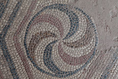 Ancient Mosaic in Antandrus Ancient City, Turkey. Stock Photo