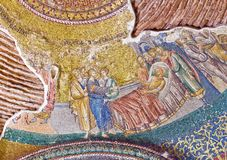 Ancient mosaic in Chora Church in Istanbul, Turkey Stock Image