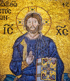 Ancient mosaic of Christ in Hagia Sophia, Istanbul Stock Image