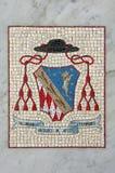 Ancient Mosaic Coat of Arms Royalty Free Stock Photo