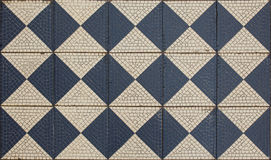 Ancient mosaic floor,. Checkered pattern Stock Photography