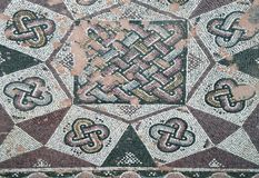 Ancient mosaic floor. Fragment of an ancient mosaic floor. Paphos, Cyprus Stock Image