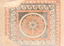 Ancient Mosaic Floor From King Herod Palace In Ma Stock Photo