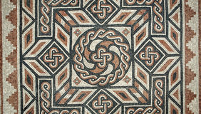 Ancient Mosaic flooring Stock Photos