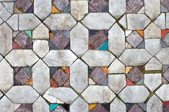 Ancient mosaic floors. texture closeup Royalty Free Stock Photos