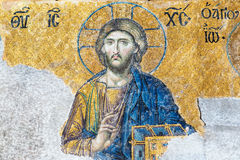 Ancient mosaic inside the Hagia Sophia in Istanbul, Turkey Royalty Free Stock Photography