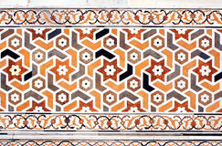 Ancient mosaic on marble, India Royalty Free Stock Photography