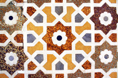 Ancient mosaic on marble, India Royalty Free Stock Images