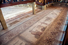 Ancient mosaic in Paphos, Cyprus Royalty Free Stock Photo