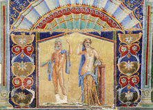 Ancient mosaic of residence of Herculaneum Stock Image