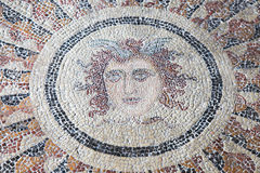 Ancient Mosaic in Rhodes, Greece Stock Photos