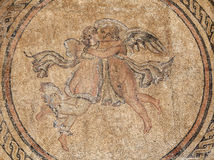 Ancient mosaic with two angels Royalty Free Stock Images
