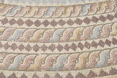 Ancient mosaics. At the archaeological park in Paphos, Cyprus royalty free stock image