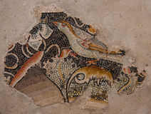 Ancient mosaics at the archaeological island of Delos Royalty Free Stock Photography
