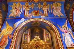 Ancient Mosaics Basilica Saint Michael Monastery Cathedral Kiev Ukraine. Ancient Mosaics Golden Sreen Icons Basilica Saint Michael Monastery Cathedral Kiev Royalty Free Stock Images