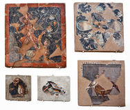 Ancient mosaics in Delos Royalty Free Stock Photos