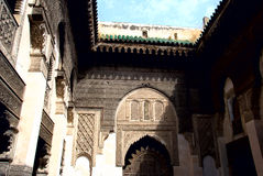 Ancient Mosque. Inside Madinat in Fes, Morocco Royalty Free Stock Photography